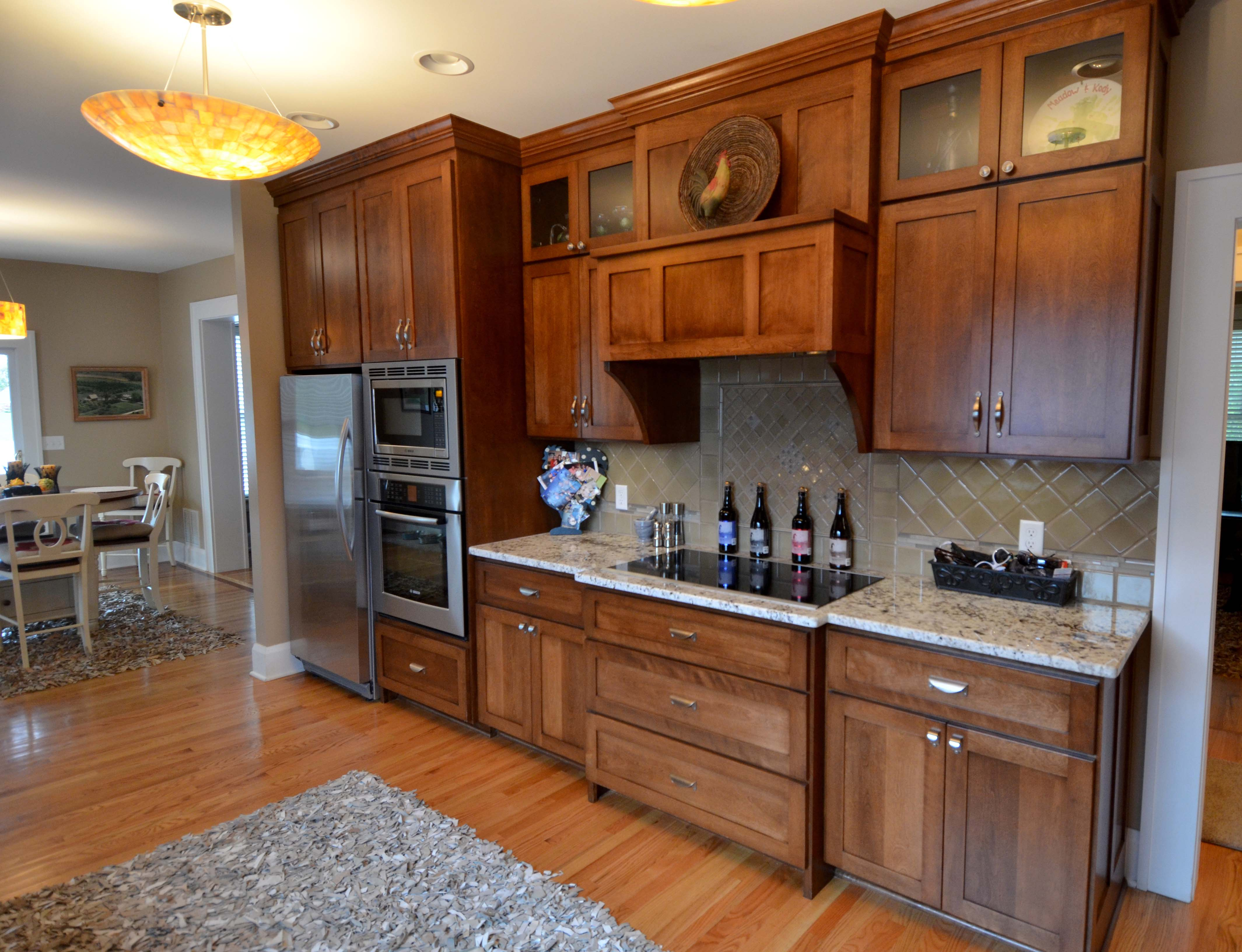 Rich Birch Shaker Cabinets Welcome Friends And Family Into This Ious Gallery Style Kitchen Details Abound On The Surface Deep Within Cabinetry