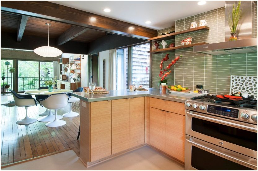 Part iii mid century modern kitchen remodel coty award for Updated kitchen remodels