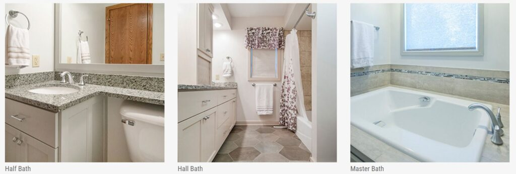 As your Columbus, Ohio, home remodeling company, we renovate bathrooms of all sizes, including half baths, hall baths and master baths.