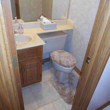 Half bath hall bath and master bath remodel in Worthington Ohio